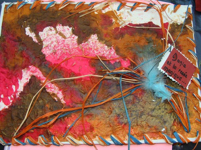 Collage de matières