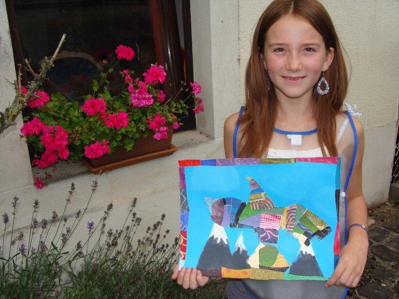 Peinture et collage dans stage pour enfants et adultes